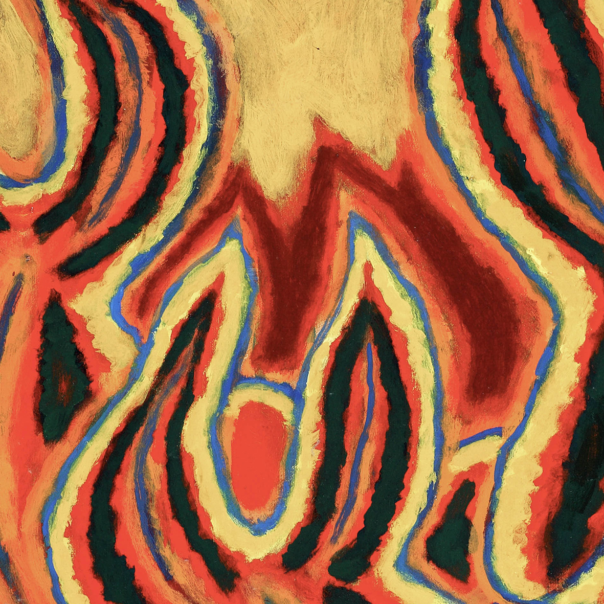 Nashar, Irama Alam (Nature's Rhythm), oil on canvas, 61 x 91.5 cm, 1993 (detail)