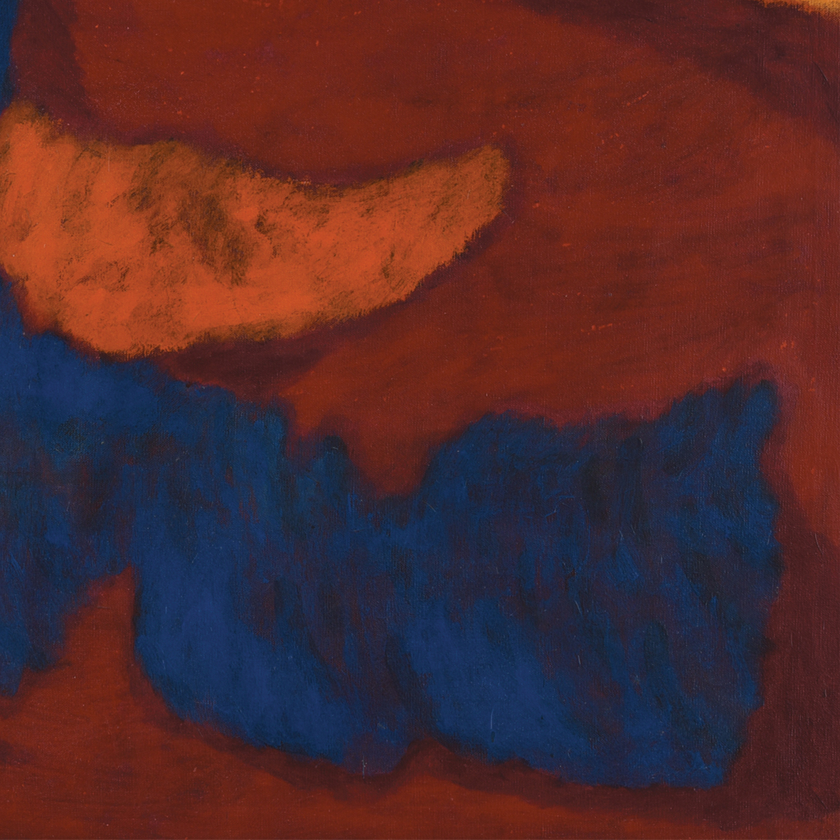 Nashar, Romance, oil on canvas, 61.5 x 89.5 cm, 1986 (detail)