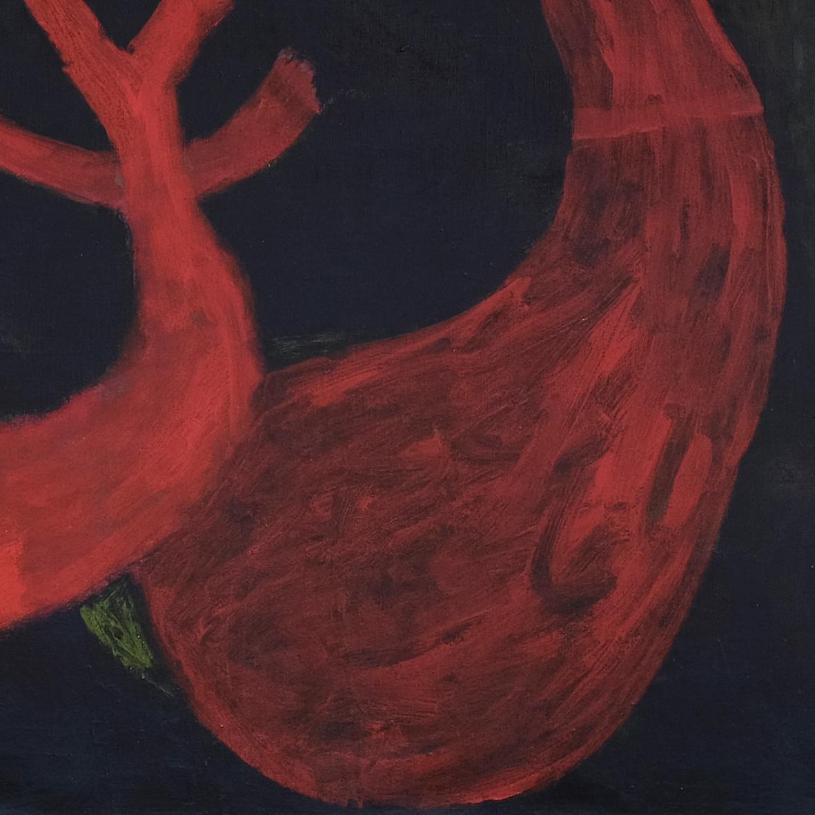Nashar, Nyayian Malam (Night Song), oil on canvas, 88 x 127 cm, 1977 (detail)