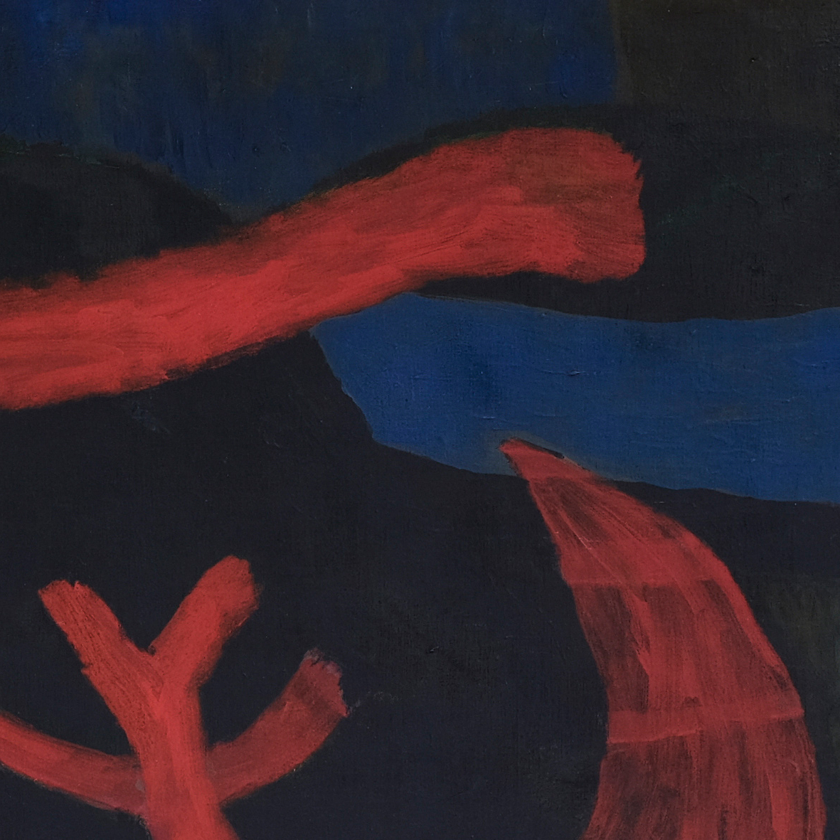 Nashar, Nyayian Malam (Night Song), oil on canvas, 88 x 127 cm, 1977 (detail)
