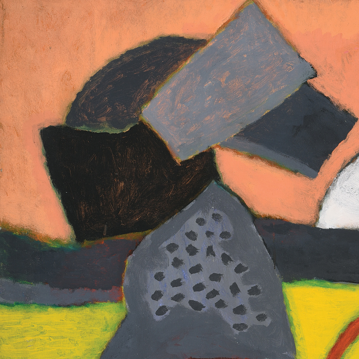 Nashar, By the Shore, oil on canvas, 64.5 x 94 cm, 1987 (detail)