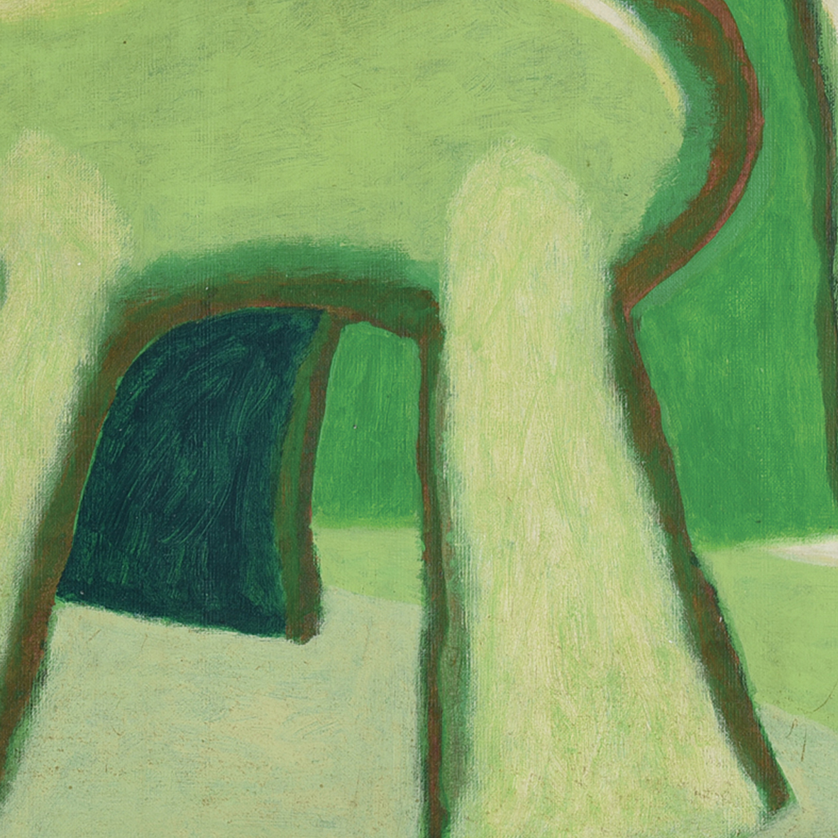 Nashar, Green Rhythm, oil on canvas, 64 x 94 cm, 1987 (detail)