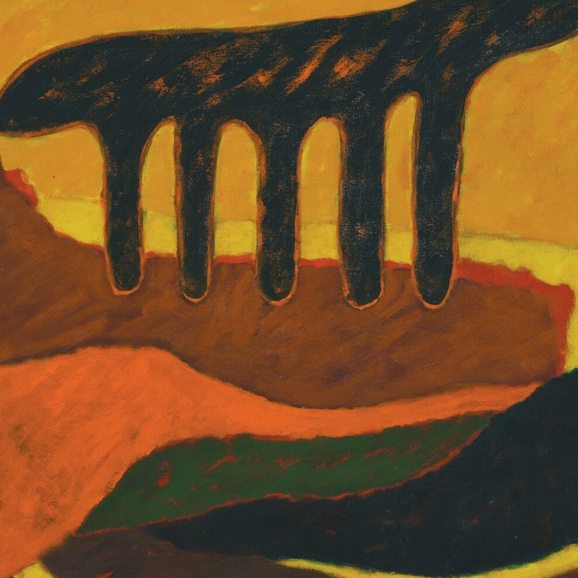 Nashar, Irama, oil on canvas, 70 x 91 cm, 1989 (detail)