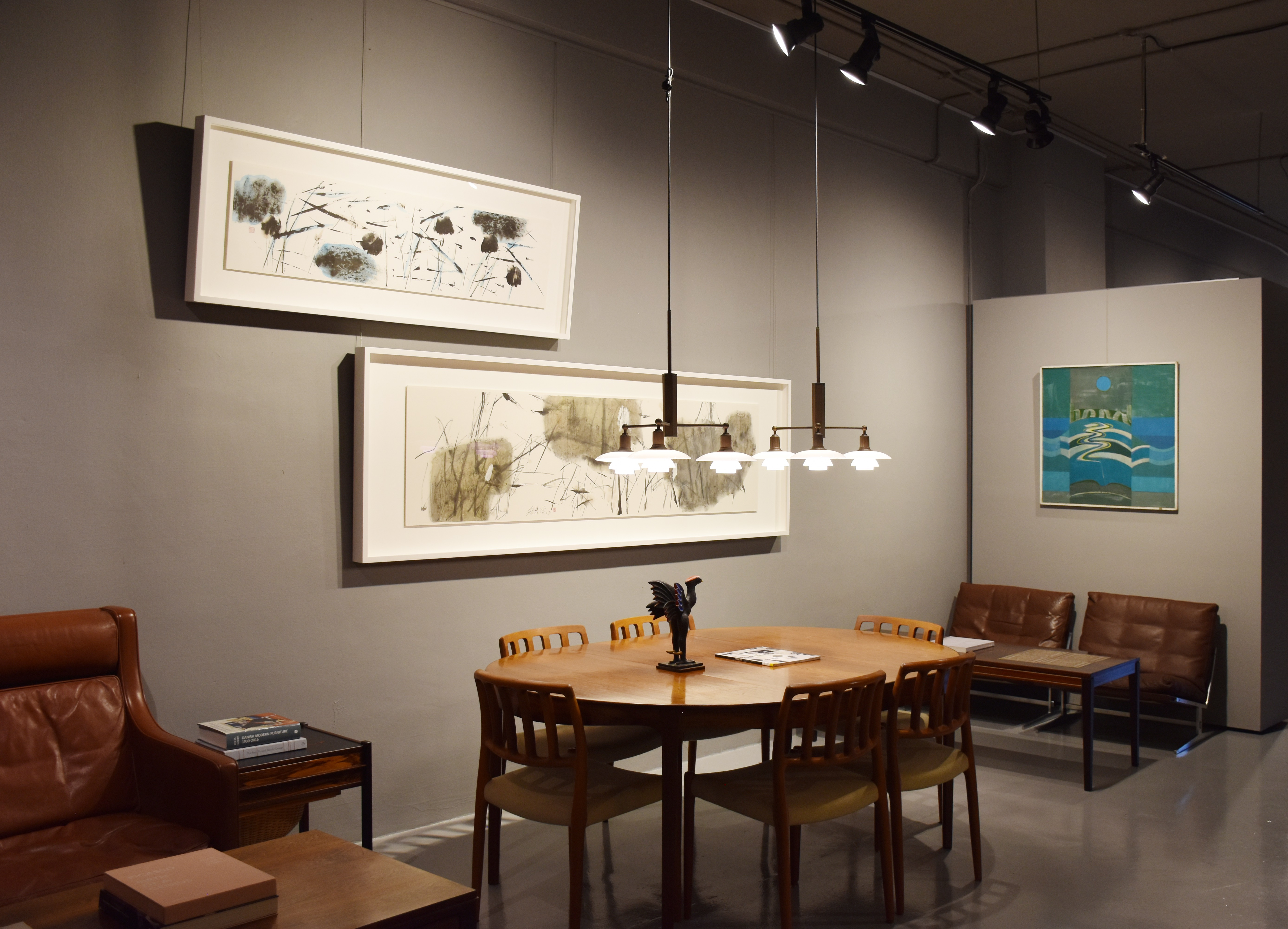 An image of the gallery set up for the exhibition: TO SEA