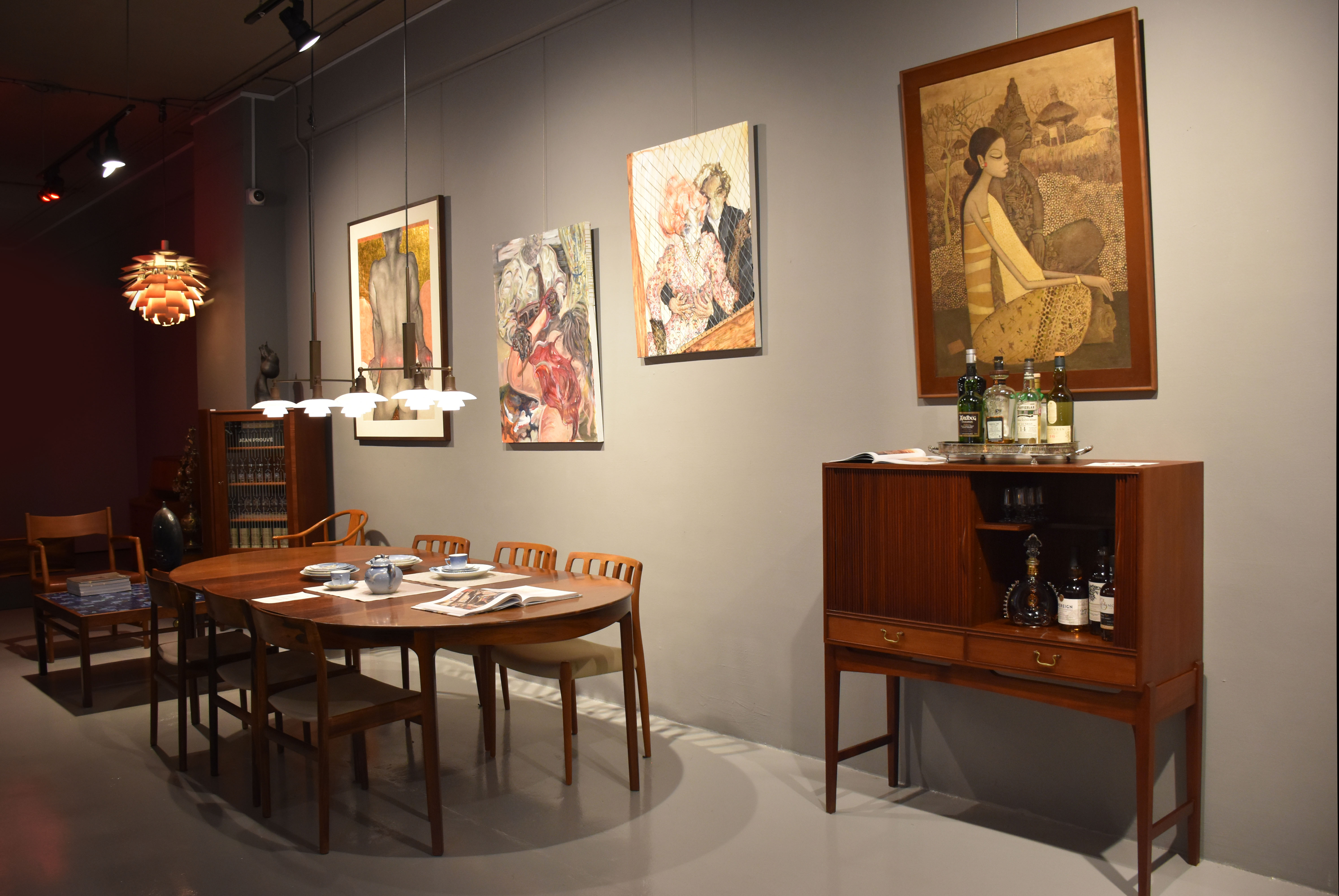 An image of the gallery set up for the exhibition: The Body as A Dream - A Singapore Art Story