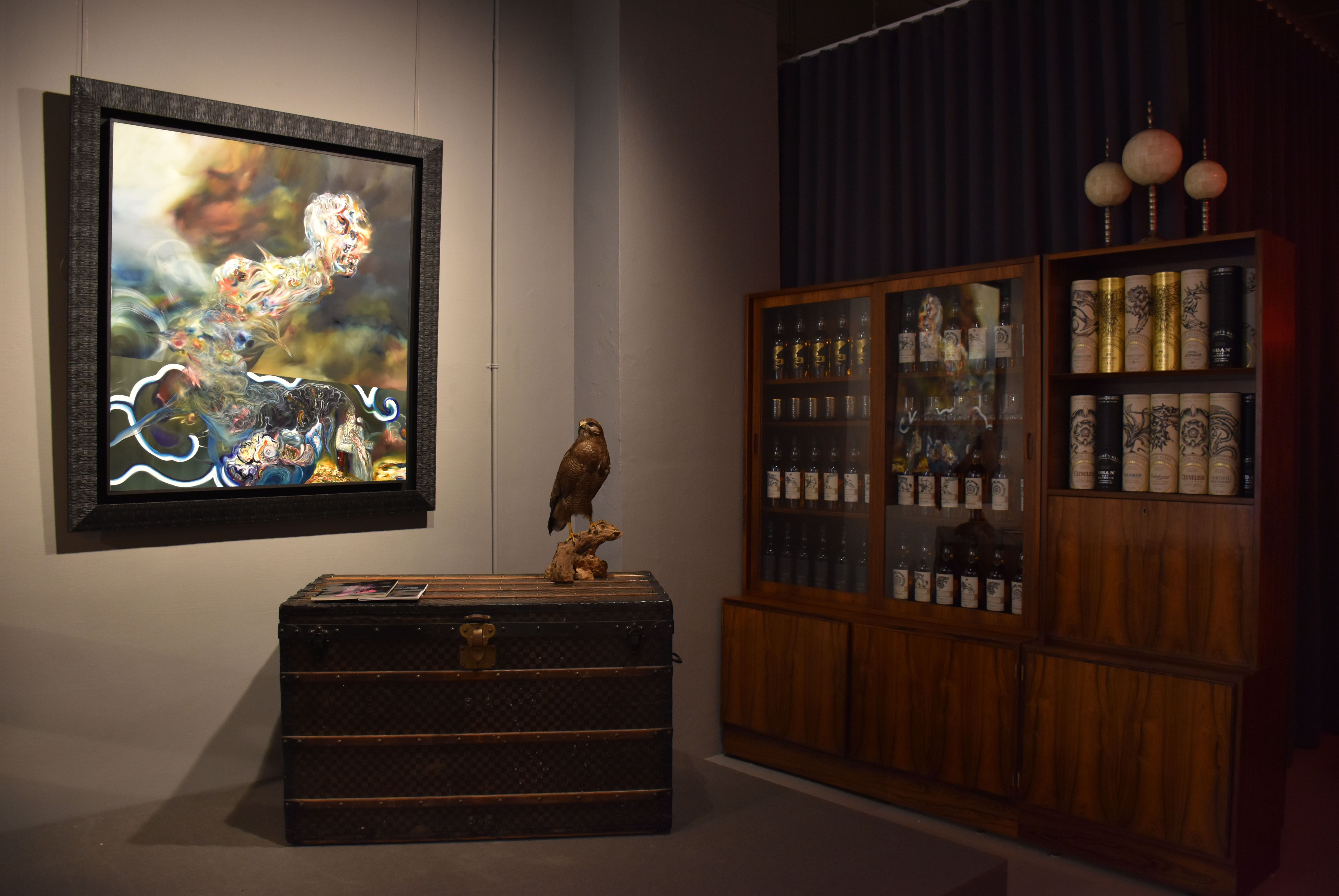 An image of the gallery set up for the exhibition: Vincent Hoisington, Painter, Decorator