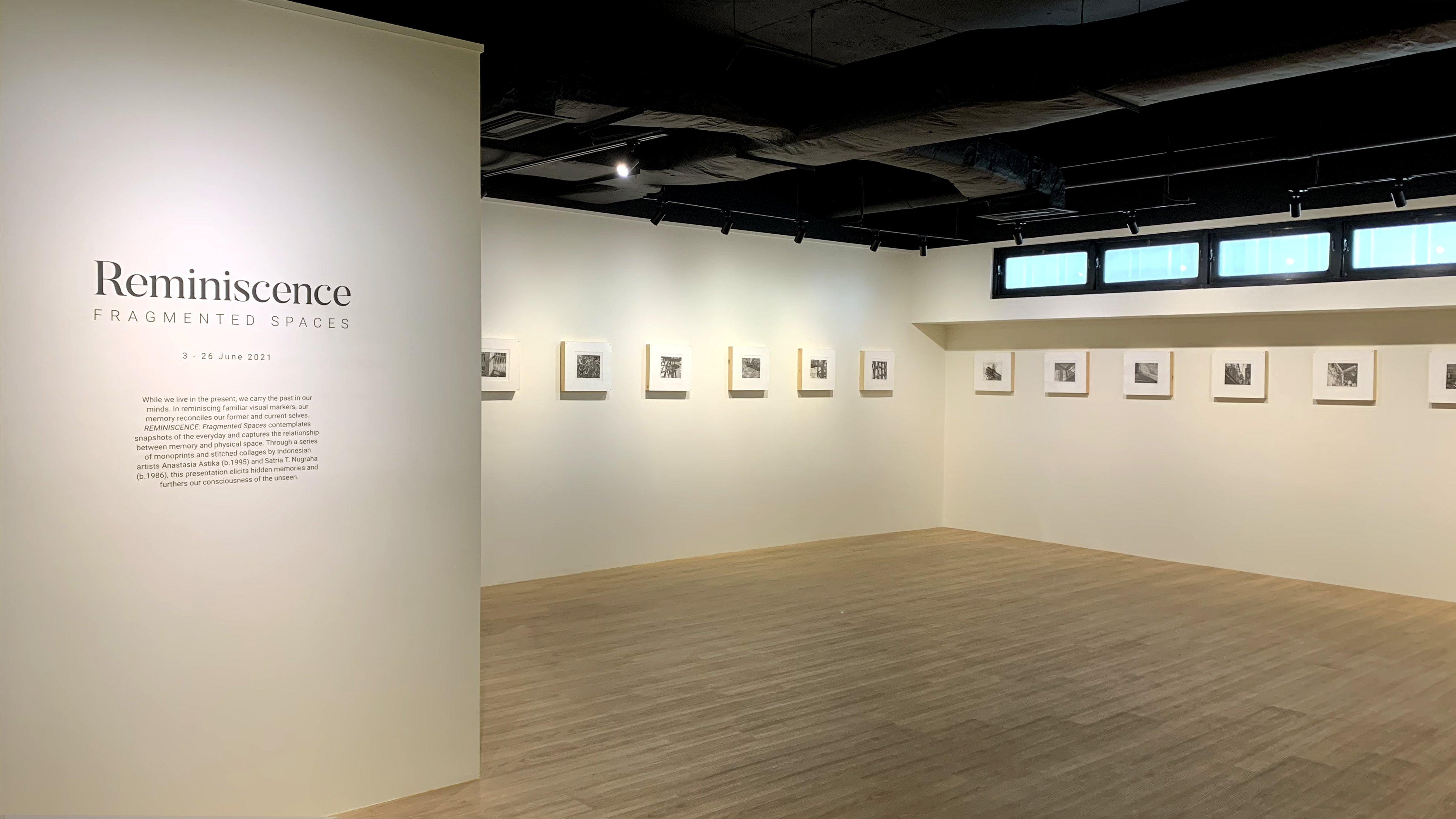 An image of the gallery set up for the exhibition: Rimba Majis