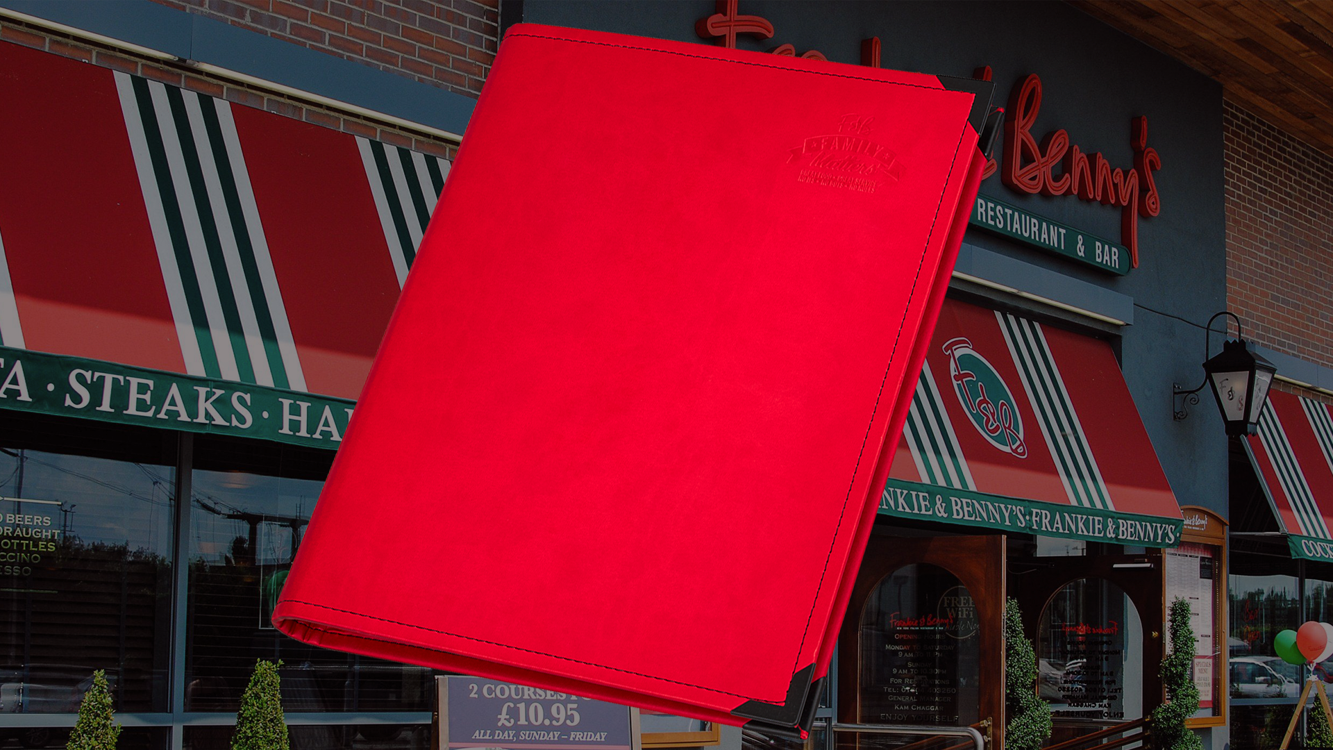 Frankie & Benny's Faux Leather Folders