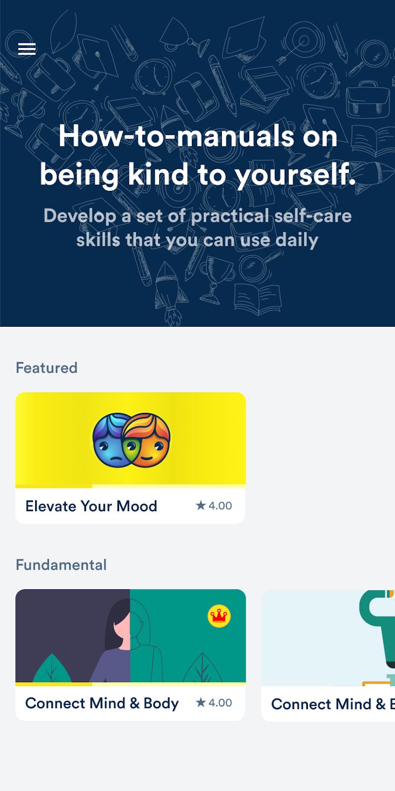 Mooditude App Programs