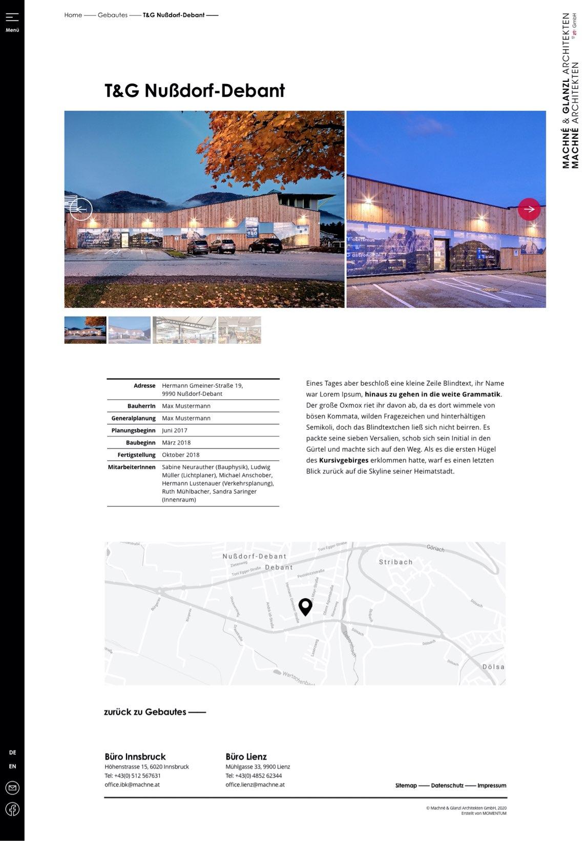 Machne & Glanzl - Webdesign
