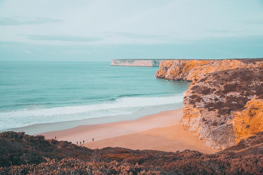 Beliche surfing beach in Sagres in the Algarve Portugal