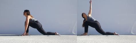 Yoga pose Twisted lunge – Parivrtta Anjaneyasana