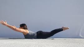 Yoga Locust pose - Shalabasana
