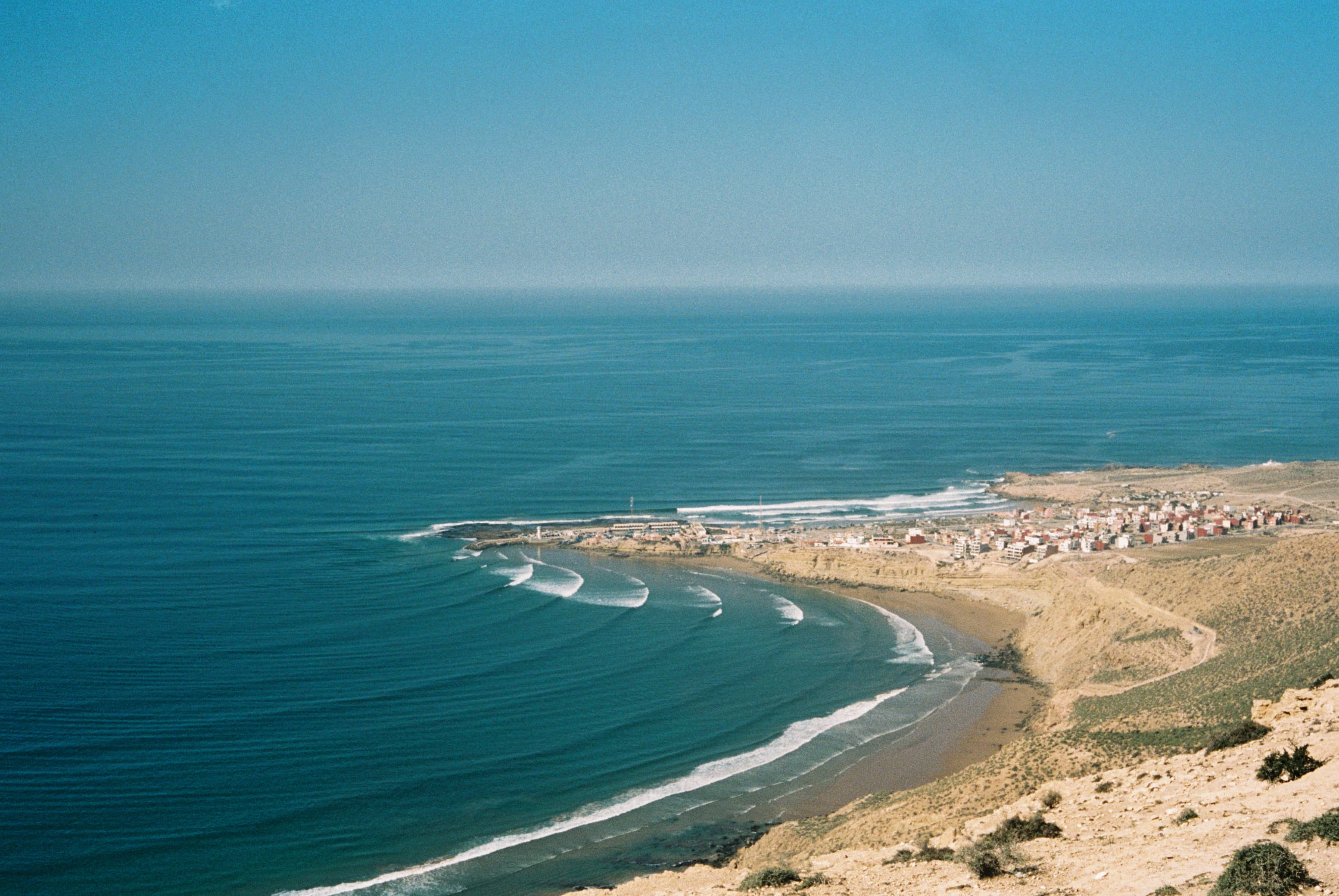 legendary Surf spot The Bay in Imsouane Morocco