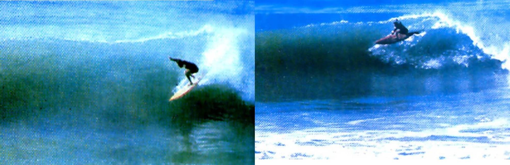Randolph Benzaquen surfing Anchor Point, Morocco, in the 70s