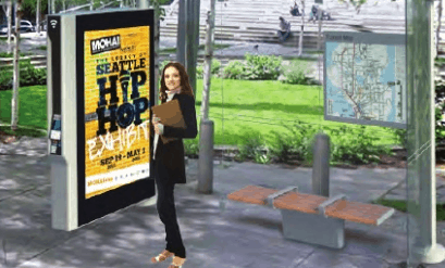 Transit print ads
