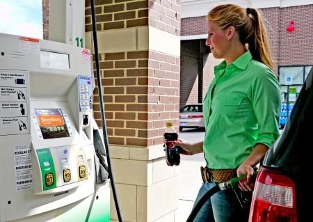 Gas pump displays
