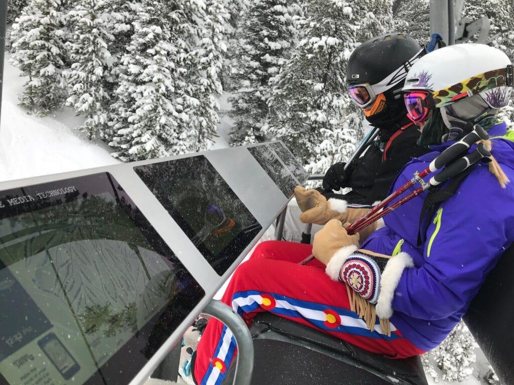 Alpine Media chairlift displays