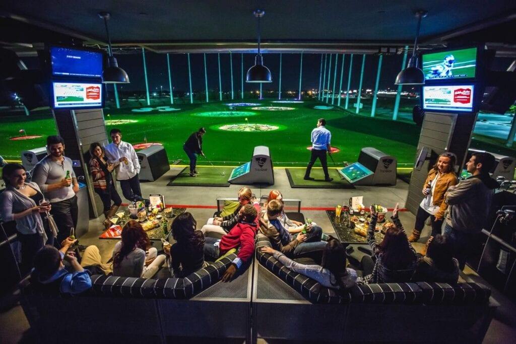 Top Golf displays