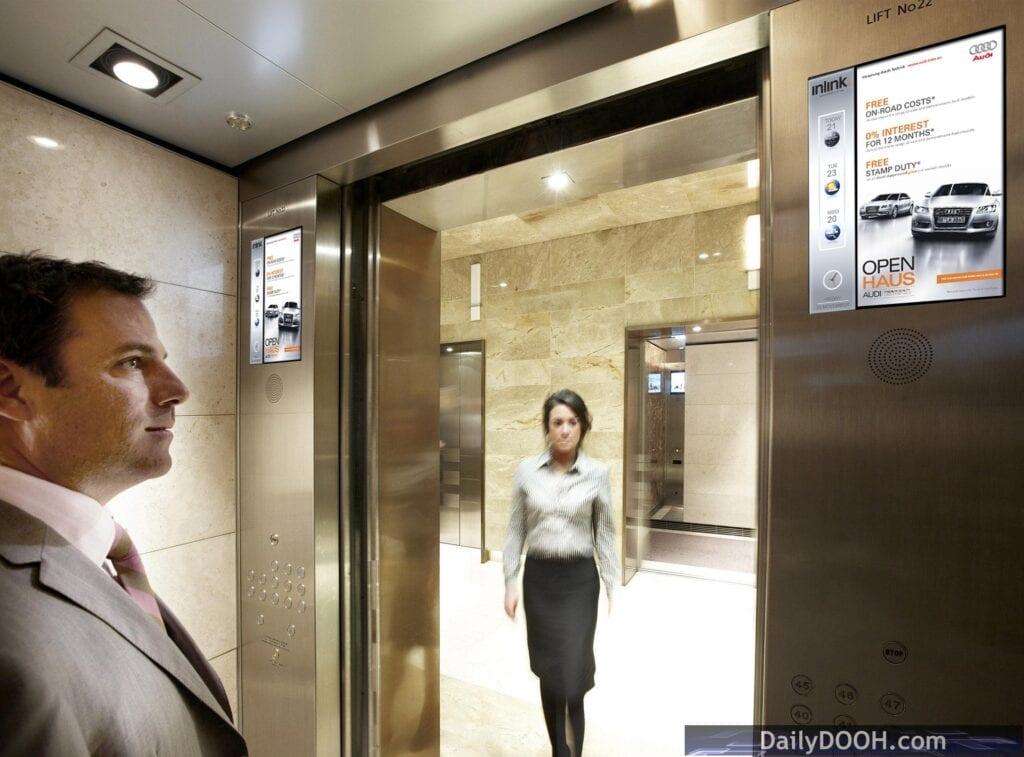 Captivate elevator displays