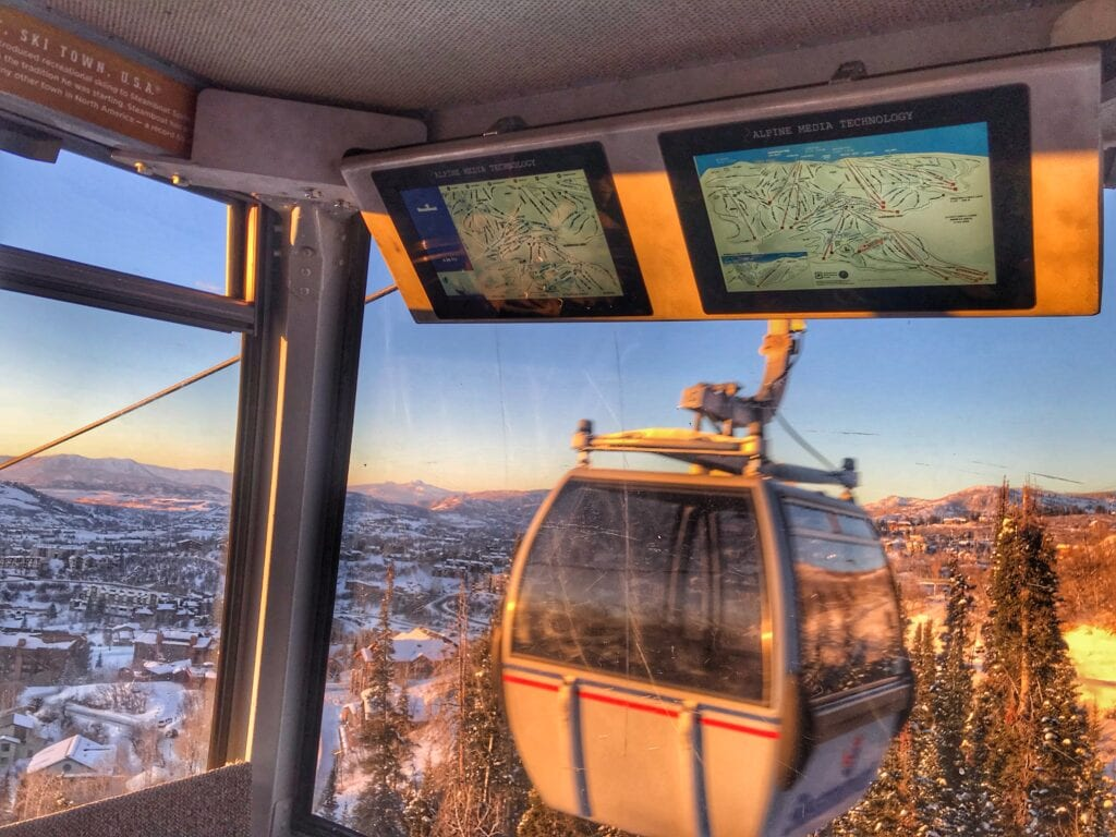 Alpine Media Technology gondola displays