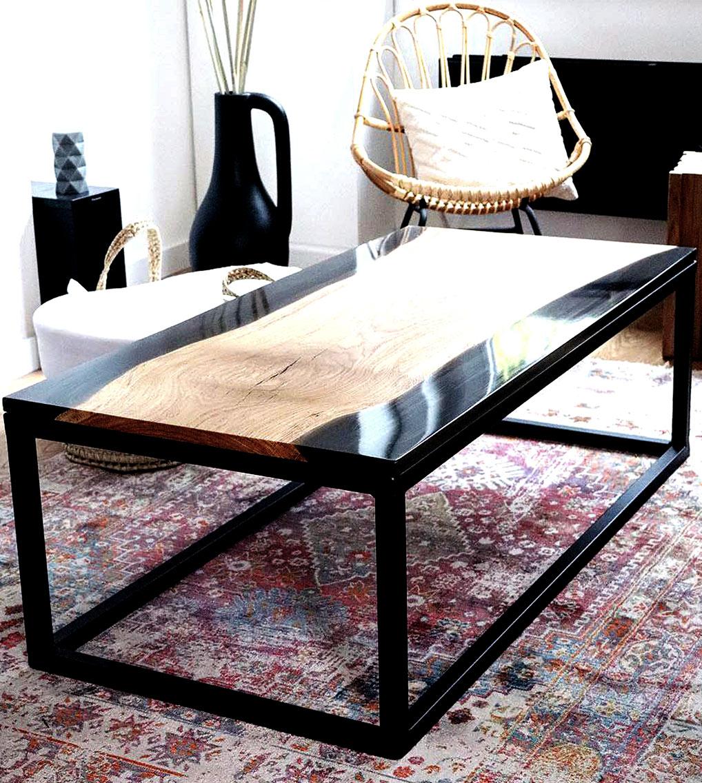 table salon chene résine epoxy mobilier design tourcoing nord france van henis