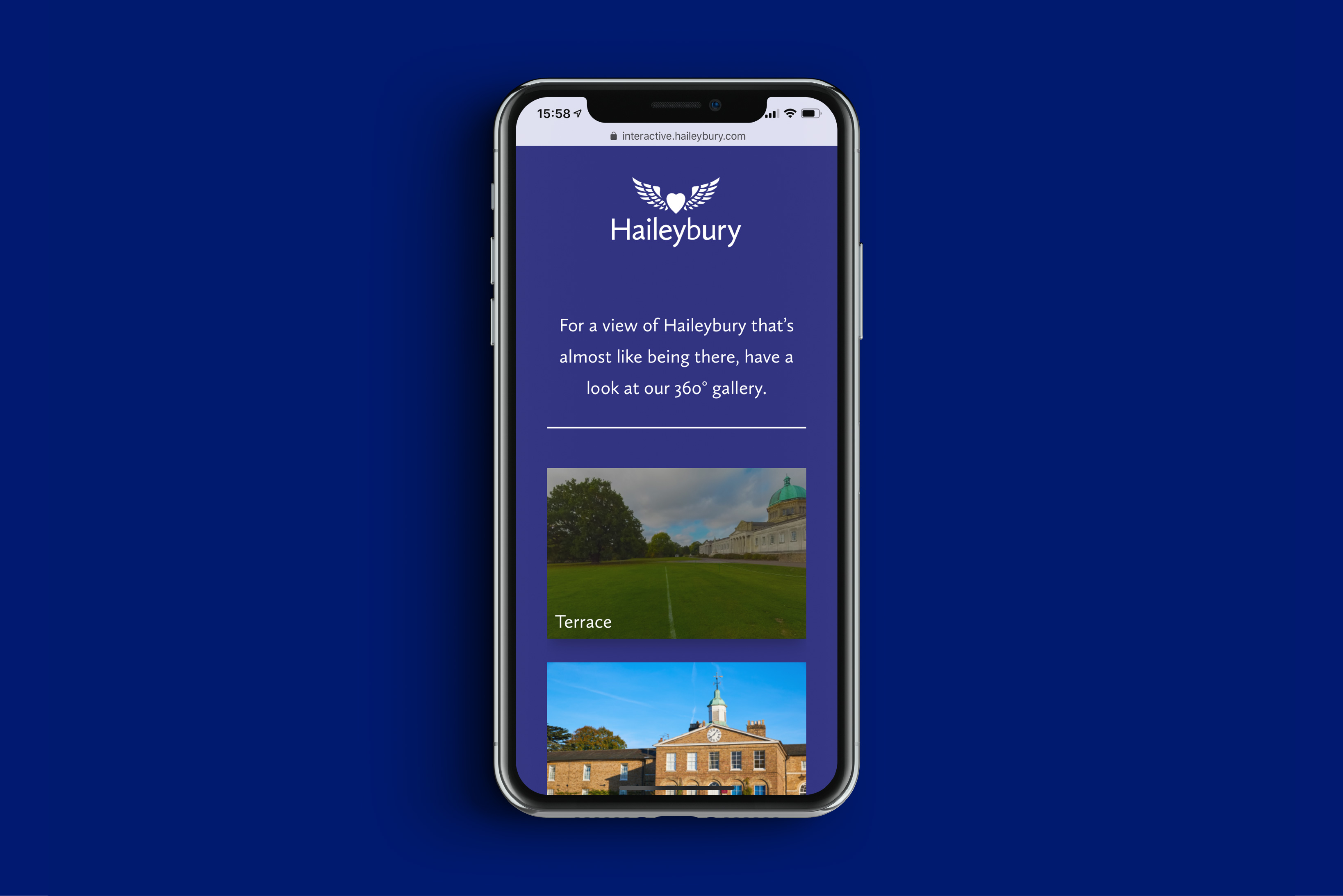 Haileybury interactive digital portal on a mobile