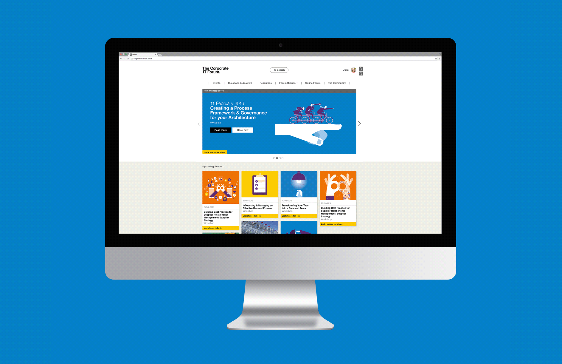 Corporate IT Forum / Rebrand and website