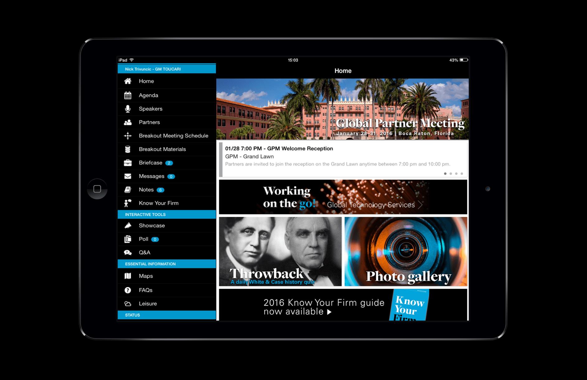 White & Case / Global Partners App