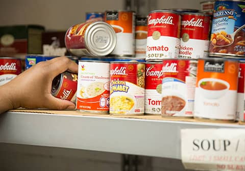 We are always in need of canned food, hearty soups, and peanut butter for our pantry to help needy families and the elderly each week