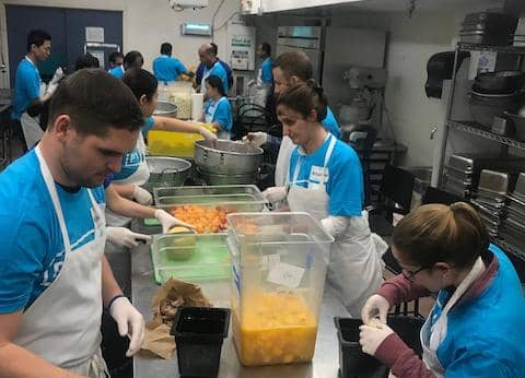 CityTeam volunteers prepare tasty meals for our residents