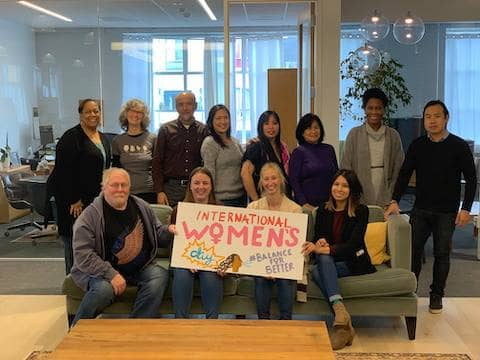International Women's day at St. Vincent de Paul Society of San Francisco #BalanceForBetter