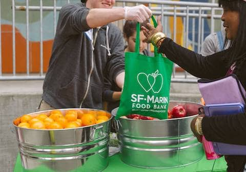Help us pre-pack groceries for distribution