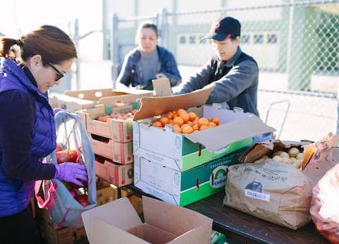 Food distribution to neighbours in need