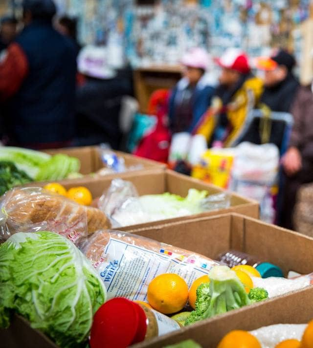 Our food is available from the Food Bank's pantry network