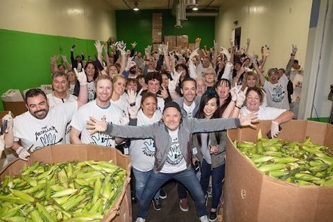 Lars Ulrich at San Francisco Marin Food Bank