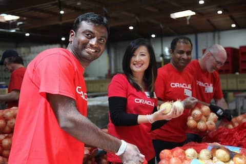 Oracle team volunteered for ACCFB