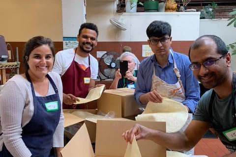 People volunteering at Burrito Project SF