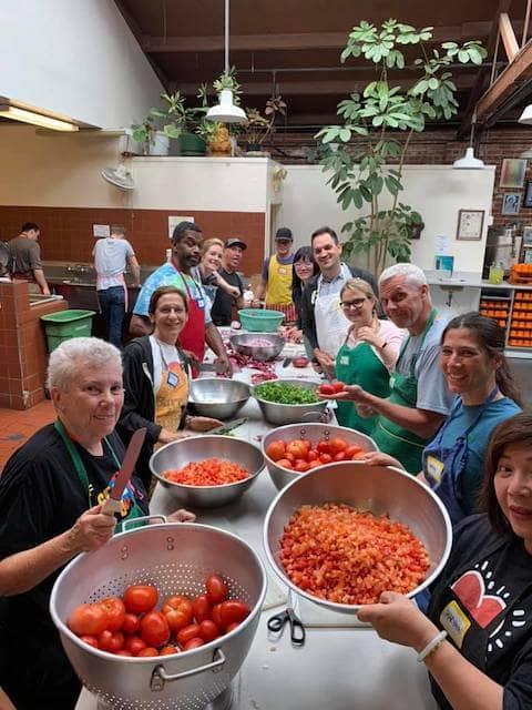 Volunteers at Burrito Project SF