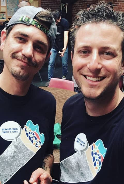 Jimmy and Eric, the Burrito Project team