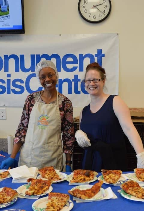 Volunteers at Monument Crisis Center