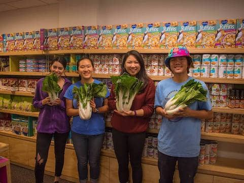 Volunteers at UC Berkeley Food Pantry