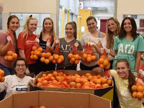 Volunteers at Redwood Empire Food Bank