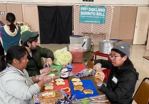 Volunteers at Eastoakland Burrito Roll