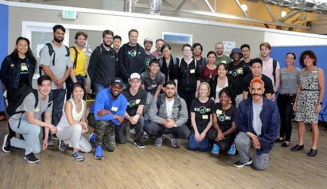 Google team volunteering at St. Vincent de Paul of Alameda County