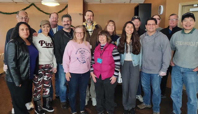 Volunteers at Monthly Miracles