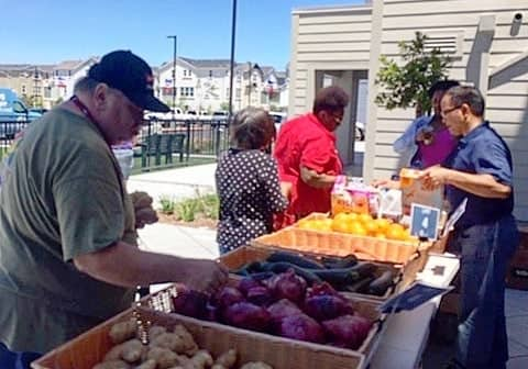 People at Tri-City Volunteers pop-up pantry