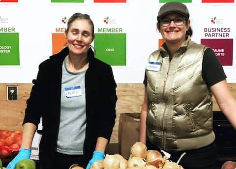 Volunteers at Berkeley Food Network