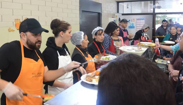 Volunteers at St. Anthony's Padua Dining Room