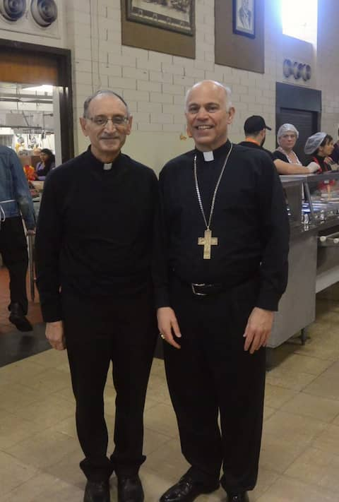 Pastors at St. Anthony's Padua Dining Room
